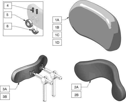 Plush Headrest Pad parts diagram
