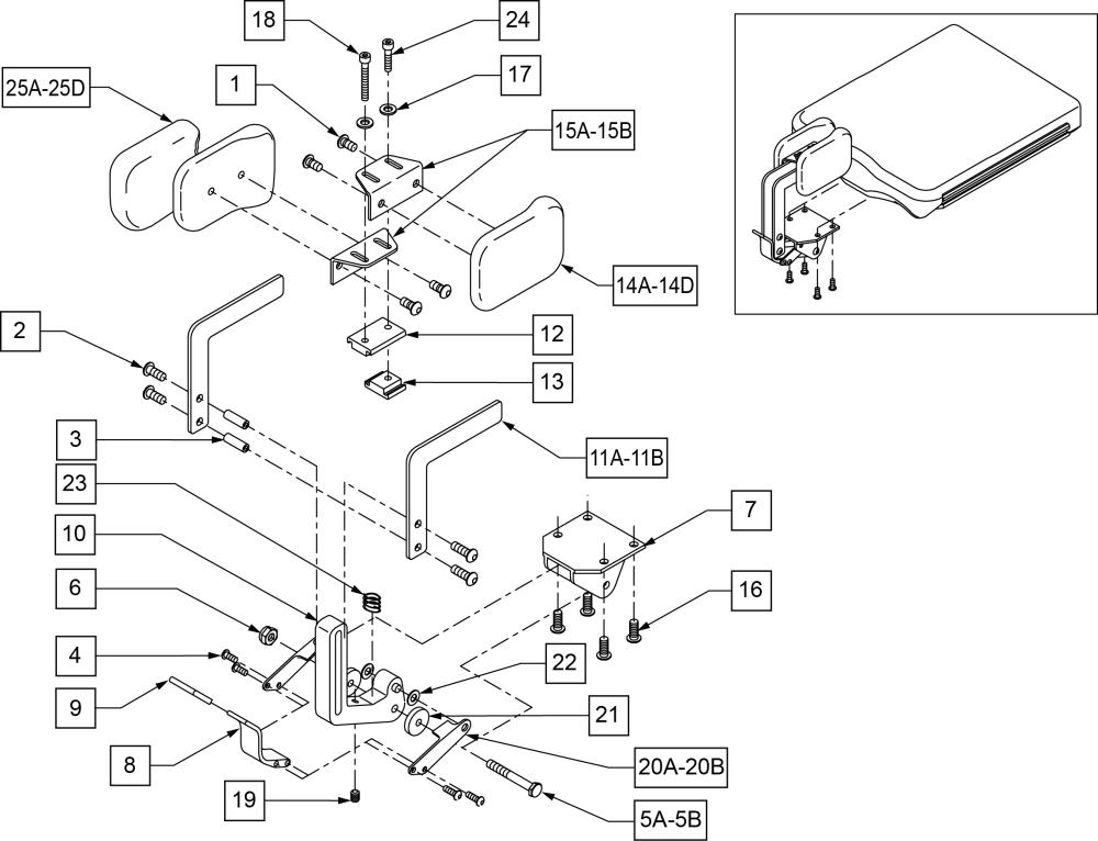 Standard Hip Abductors parts diagram