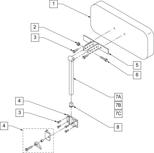 Custom Planar Headrest parts diagram