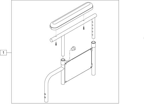 Height-adjustable Armrest Full Padded (2000, 3000, 4000 Recliner) parts diagram
