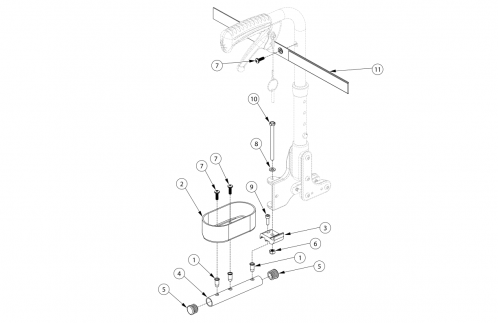 Liberty Ft Cane And Crutch Holder parts diagram