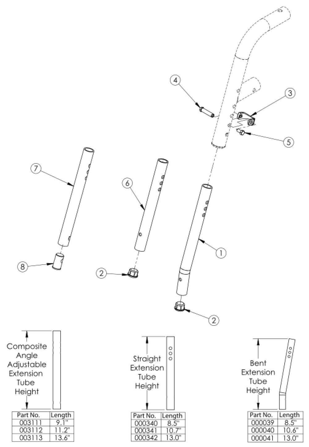 Hanger Extension Tubes parts diagram