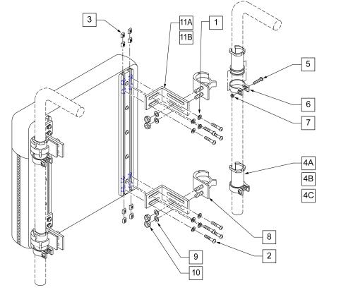 Standard Snaptite Back Hardware parts diagram