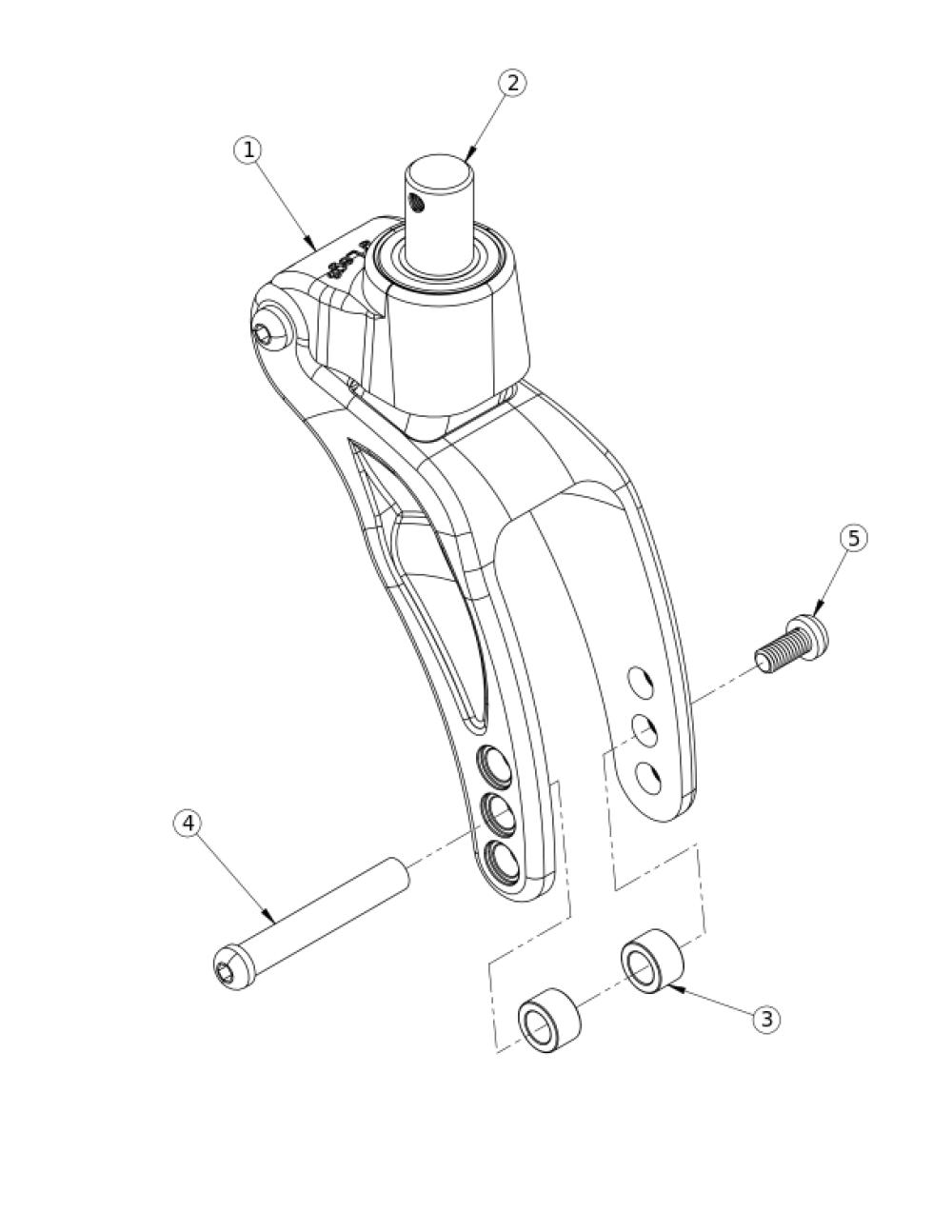 Rogue / Clik / Ethos Frog Legs Ii Suspension System (phase 2 Carbon Fork) parts diagram