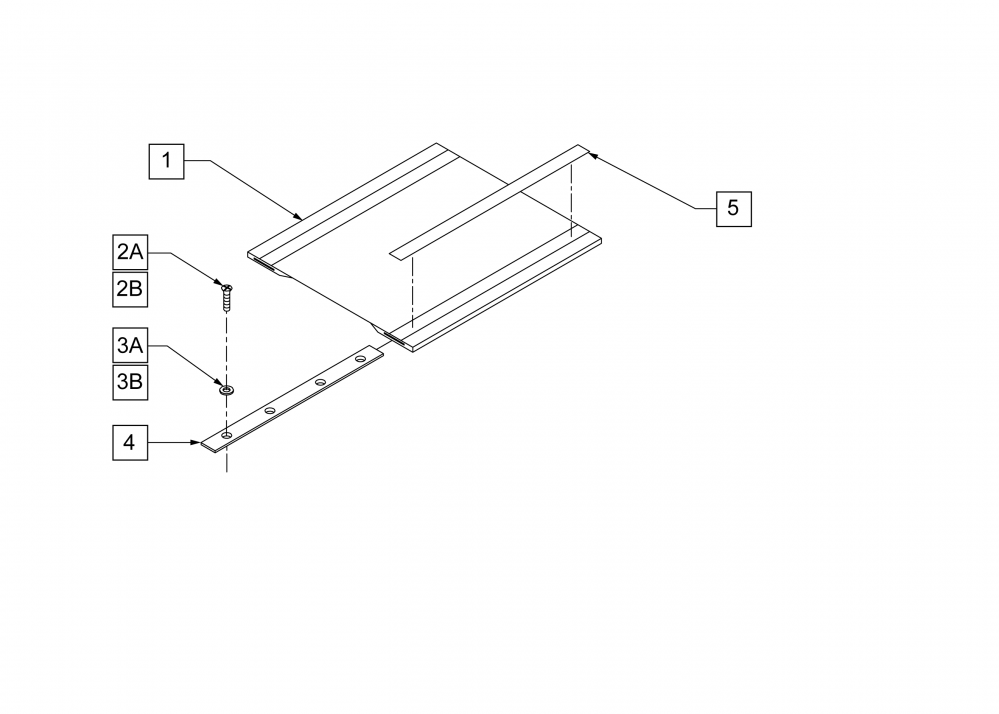 Non-padded Seat Sling parts diagram