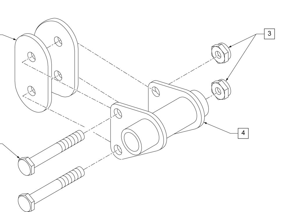Quick Release Axle Bracket Std parts diagram
