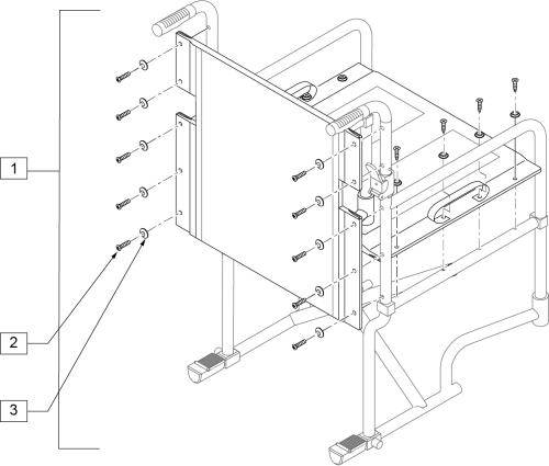 Folding Transport Upholstery (steel/aluminum) parts diagram