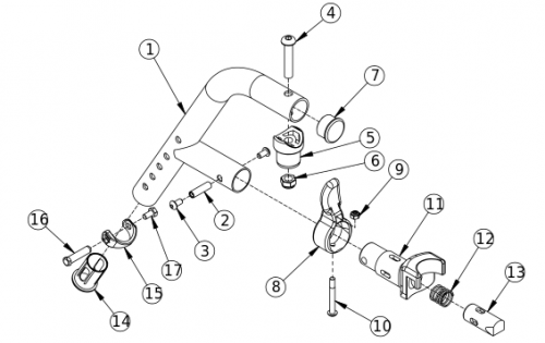 Liberty Ft 60 Degree Extension Mount Hanger parts diagram