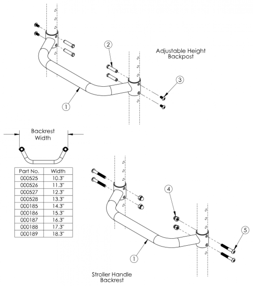 Flip Adjustable Height Rigidizer Bar parts diagram