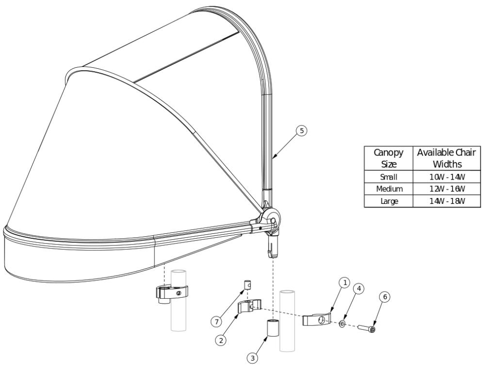 Canopy parts diagram