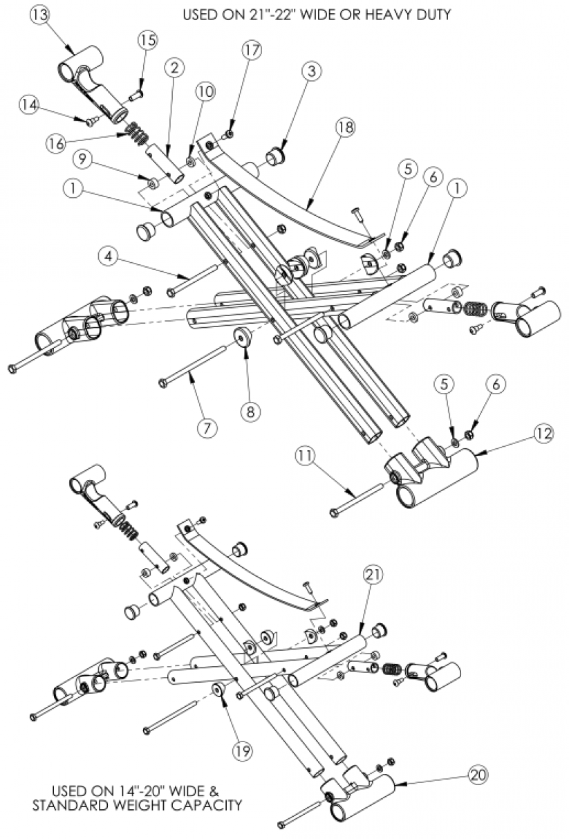 Catalyst 4 Cross Braces - Open Seating (seating System) parts diagram