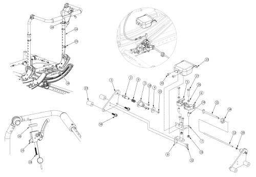 (discontinued 4) Focus Cr Hand Tilt Mechanism Adjustable Height With Adjustable Handle Back parts diagram