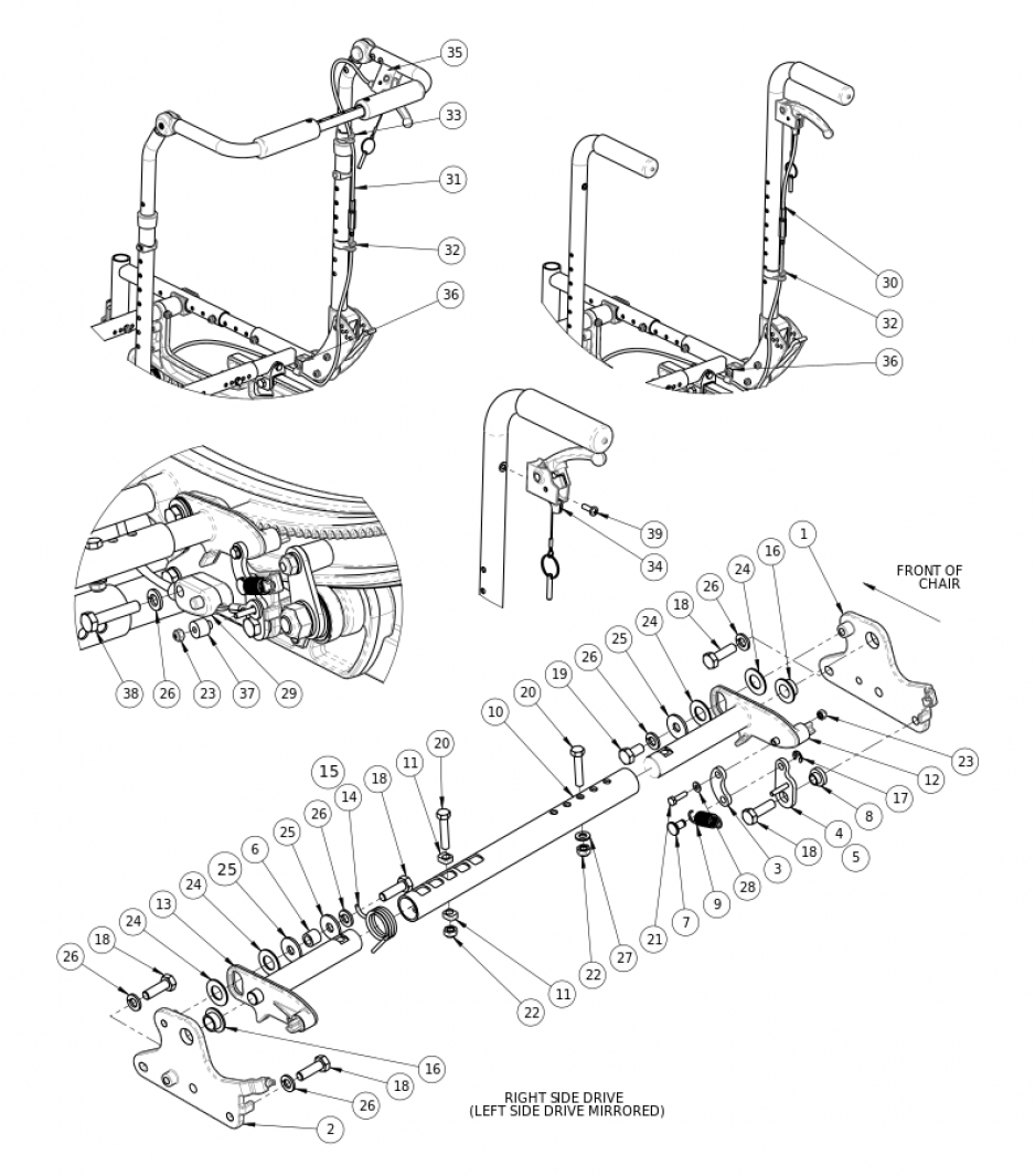 (discontinued 2) Focus Cr Hand Tilt Mechanism parts diagram