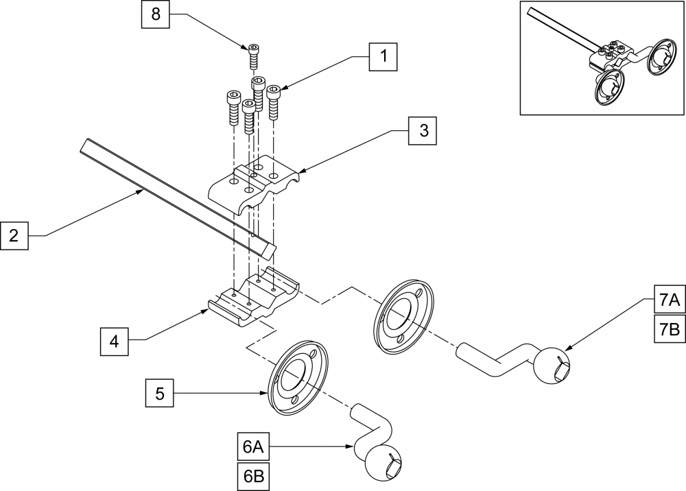 Occipital Mounting Hardware Assembly parts diagram