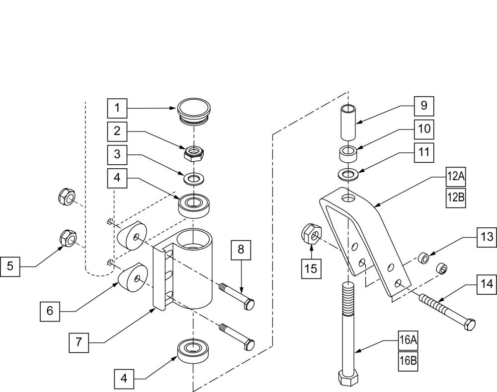 Fork & Stem Assm parts diagram