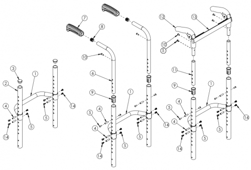 Rogue Style Fixed Height Back Post With Adjustable Height Rigidizer Bar On Tsunami parts diagram