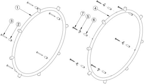 Projection Handrim parts diagram