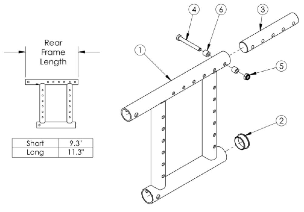 Spark Rear Frame parts diagram