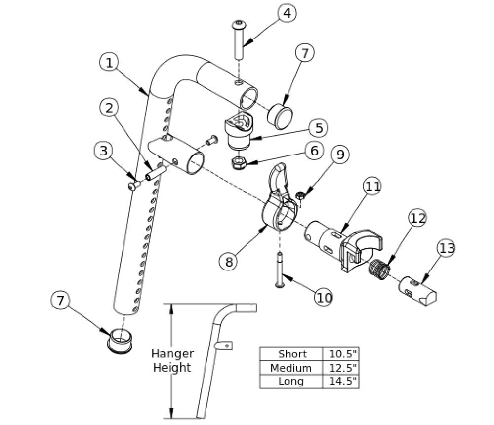 Liberty Ft 80 Degree Front Mount Hanger parts diagram