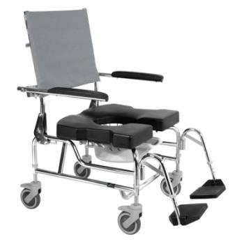 Raz Design RAZ-AP600 Heavy Duty Attendant Propel Rehab Shower Commode Chair