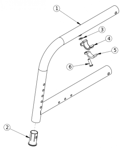 Catalyst 5ti 80 Degree Fixed Front Frame parts diagram