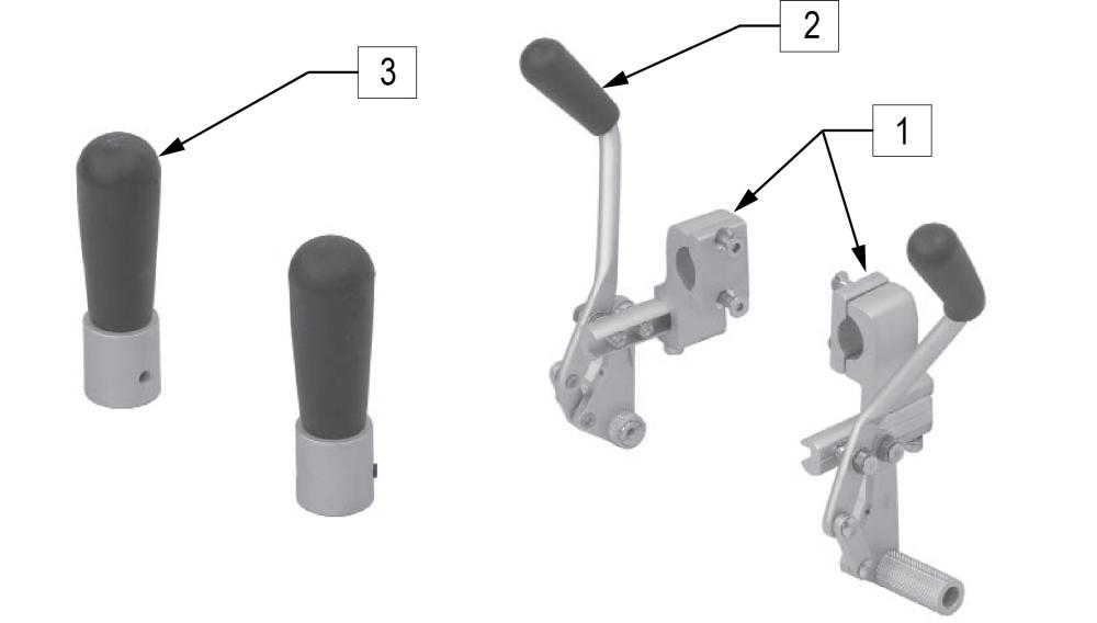 Standard Frame Wheel Locks - Push parts diagram