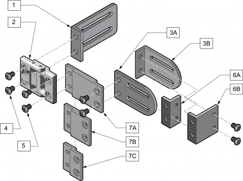 Swing Away Modular Laterals parts diagram