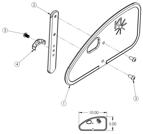 Removable Pediatric Side Guard parts diagram