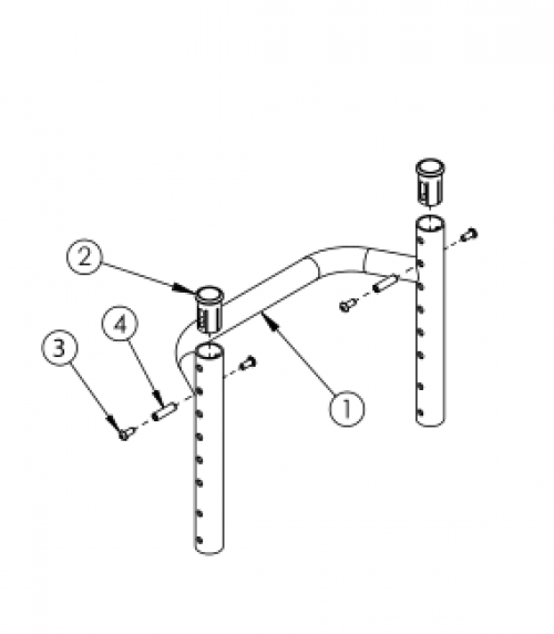 Rogue Style Height Adjustable Backrest With Non-adjustable Rigidizer Bar On Tsunami - Growth parts diagram