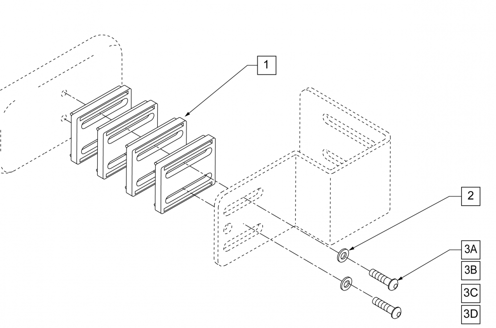Fixed Thoracic Bracket Spacer parts diagram