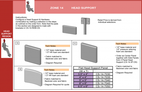 Cs-14-head-os Head Support With Fixed Hdwr (1 Of 2) parts diagram