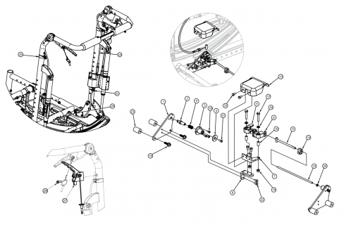 (discontinued 2) Focus Cr Hand Tilt Mechanism Reclining Back parts diagram