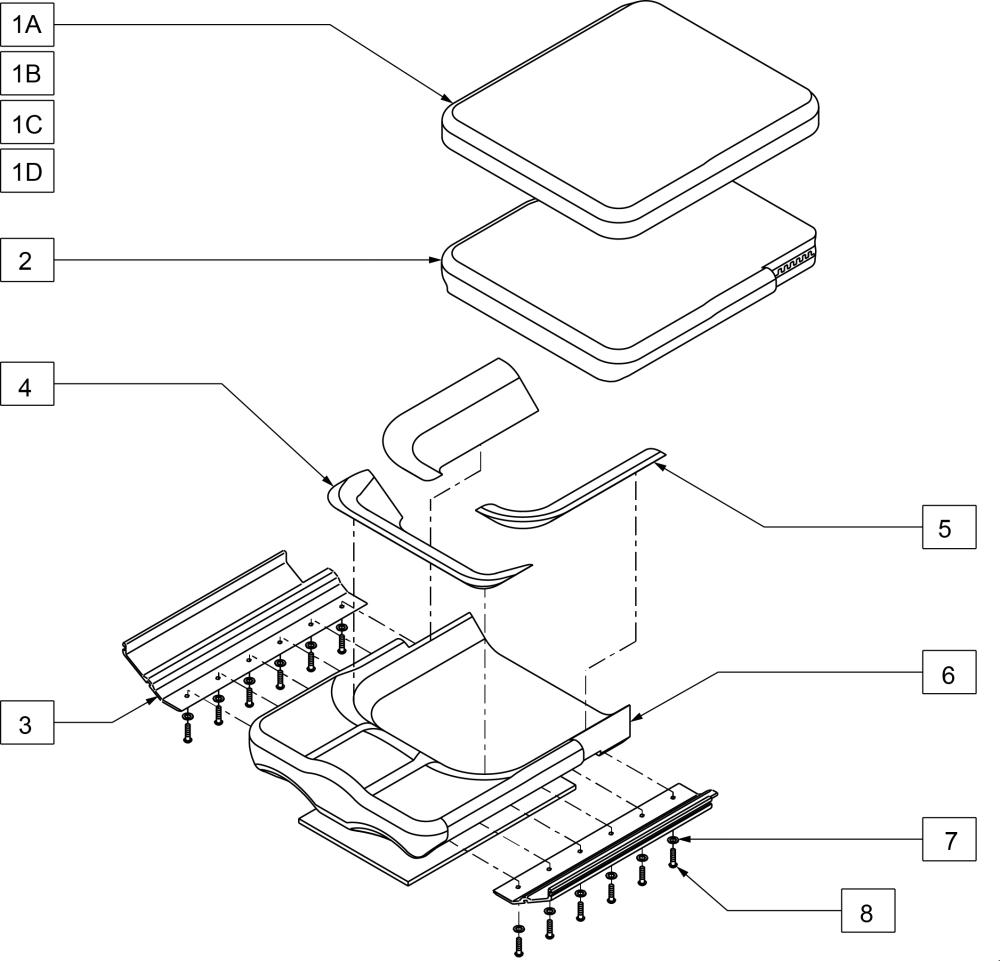 Seats parts diagram