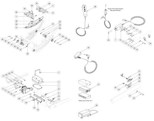 Focus Cr Power Tilt parts diagram