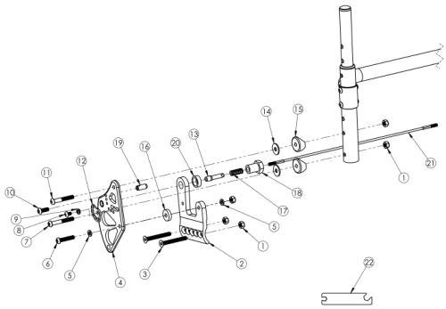 Rogue Xp Standard Backrest Mount parts diagram