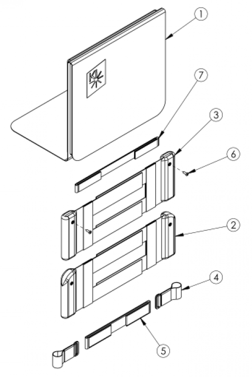 Discontinued 1 Rigid Padded Hook And Loop Adjustable Back Upholstery parts diagram