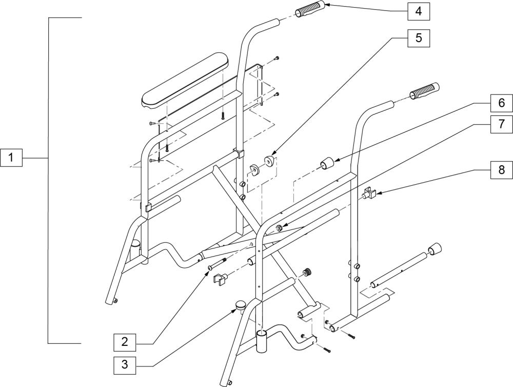 1000 Frame parts diagram