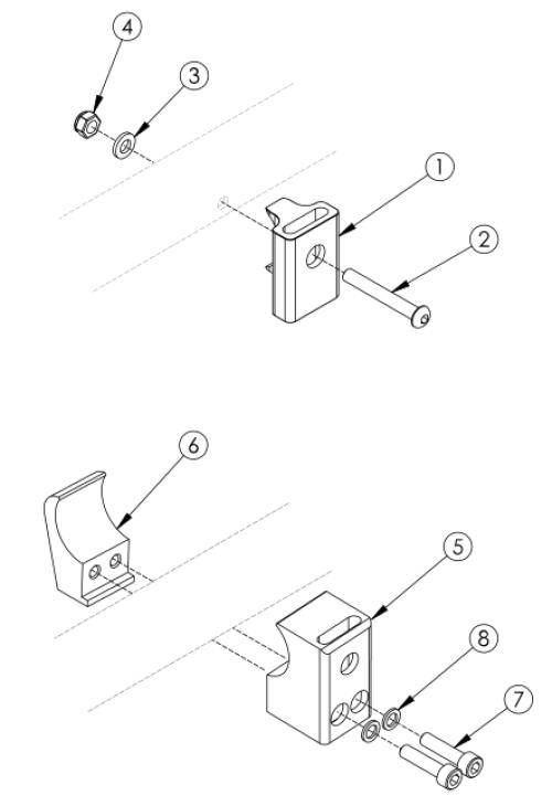 Rigid Color Anodized Side Guard Receiver parts diagram