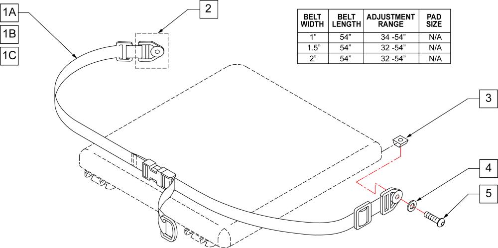 Single Pull Hip Belts parts diagram