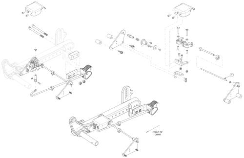 Focus Cr Foot Tilt Mechanism - Growth parts diagram