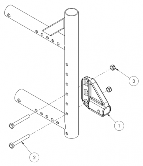 Catalyst 5vx Anti-tip Receiver parts diagram