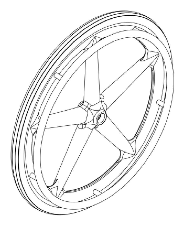Little Wave Mag Wheel / Tire / Handrim Kits parts diagram