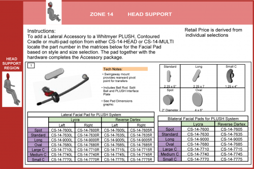 Cs-14-lacc Lateral Head Support Accessories (1 Of 4) parts diagram
