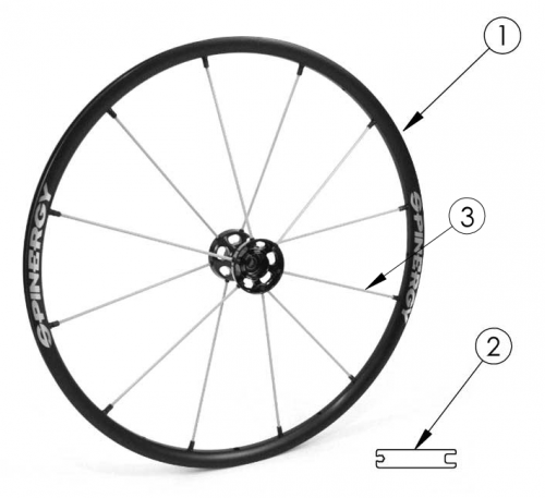 Spinergy Lx Wheel parts diagram