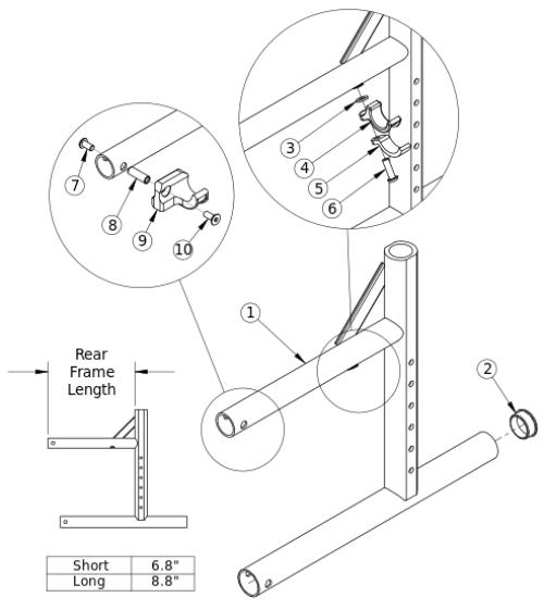 Catalyst 4 Rear Frame parts diagram