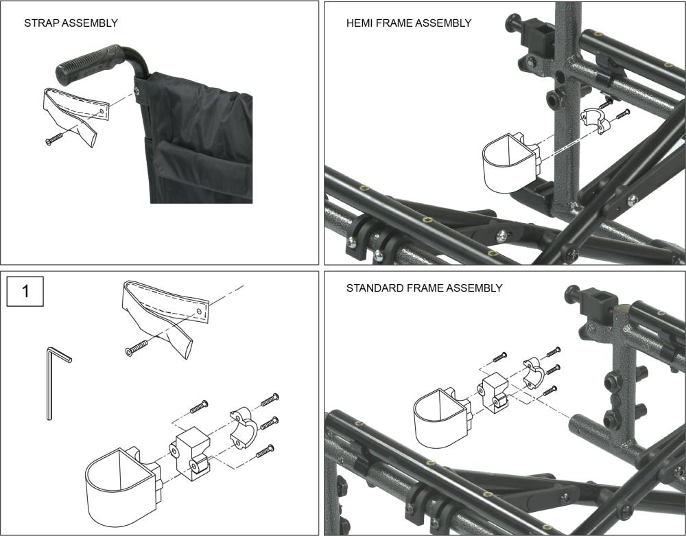 Breezy Ultra 4 Crutch Holder parts diagram