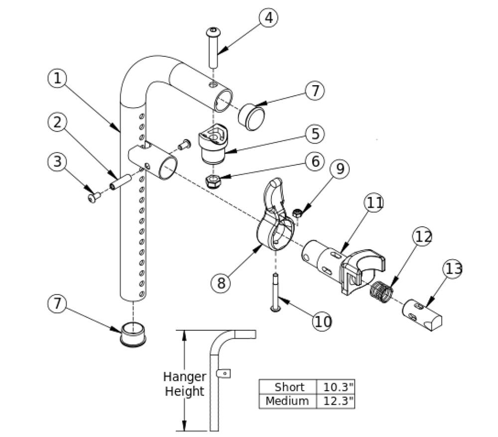 Liberty Ft 90 Degree Front Mount Hanger parts diagram