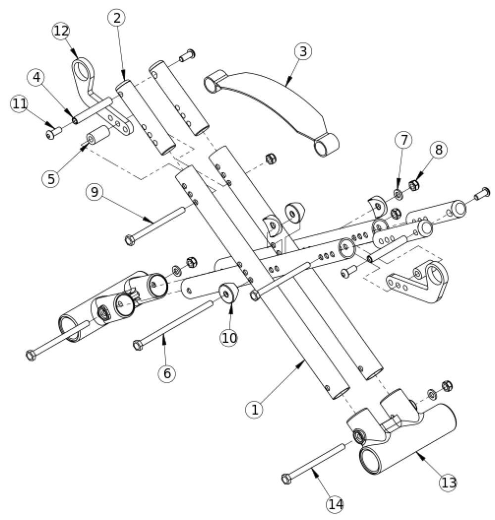 Spark Cross Braces parts diagram