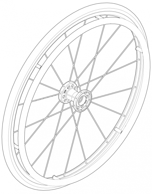Maxx Spoke Wheel / Tire / Handrim Kits parts diagram