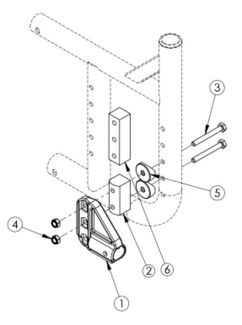 Catalyst 5 Anti-tip Receiver parts diagram
